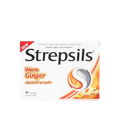 STREPSILS WARM GINGER 16 LOZENGES
