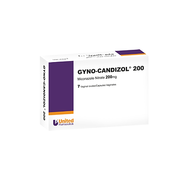 GYNO CANDIZOL 200MG VAGINAL7 OVULES