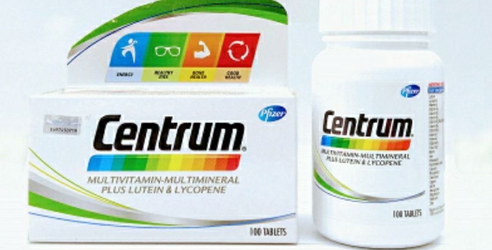 CENTRUM WITH LUTEIN TAB 100'S