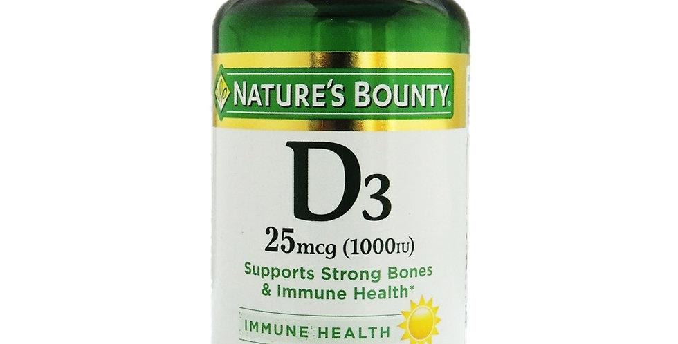 Nature's Bounty Vitamin D3 1000IU Softgels 120's