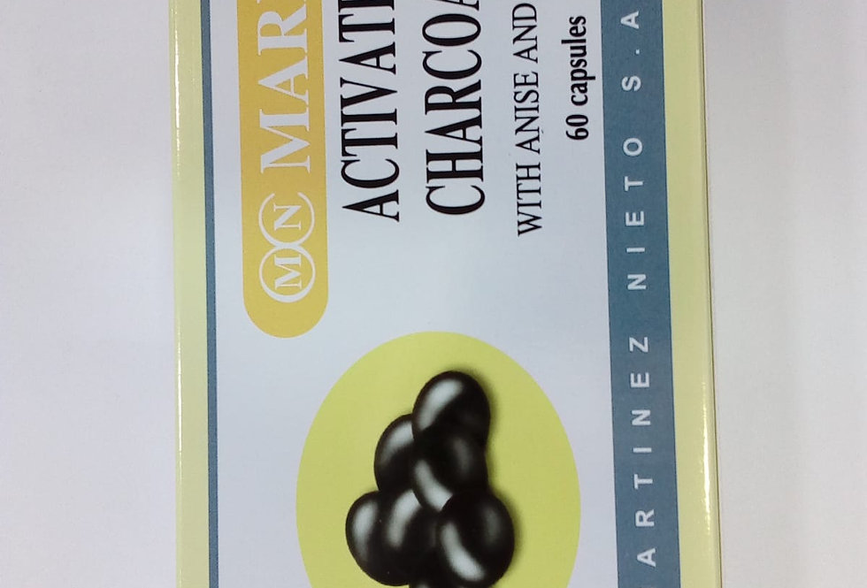 MARNYS ACTIVATED CHARCOAL 60 CAPSULES
