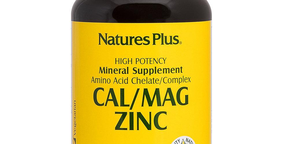 NATURE'S PLUS CALCIUM/MAGNESIUM/ ZINC 90 TABLETS