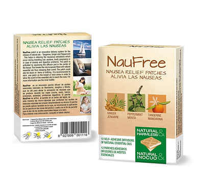 NAUFREE NAUSEA RELIEF 12 PATCHES