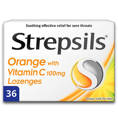 STREPSILS ORANGE WITH VITAMIN C 36 LOZENGES