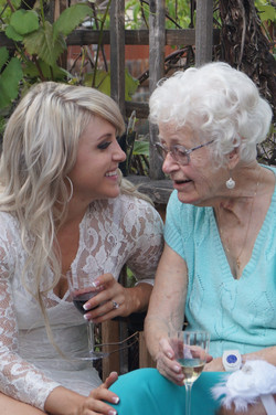 Bride and her Grandmother talking