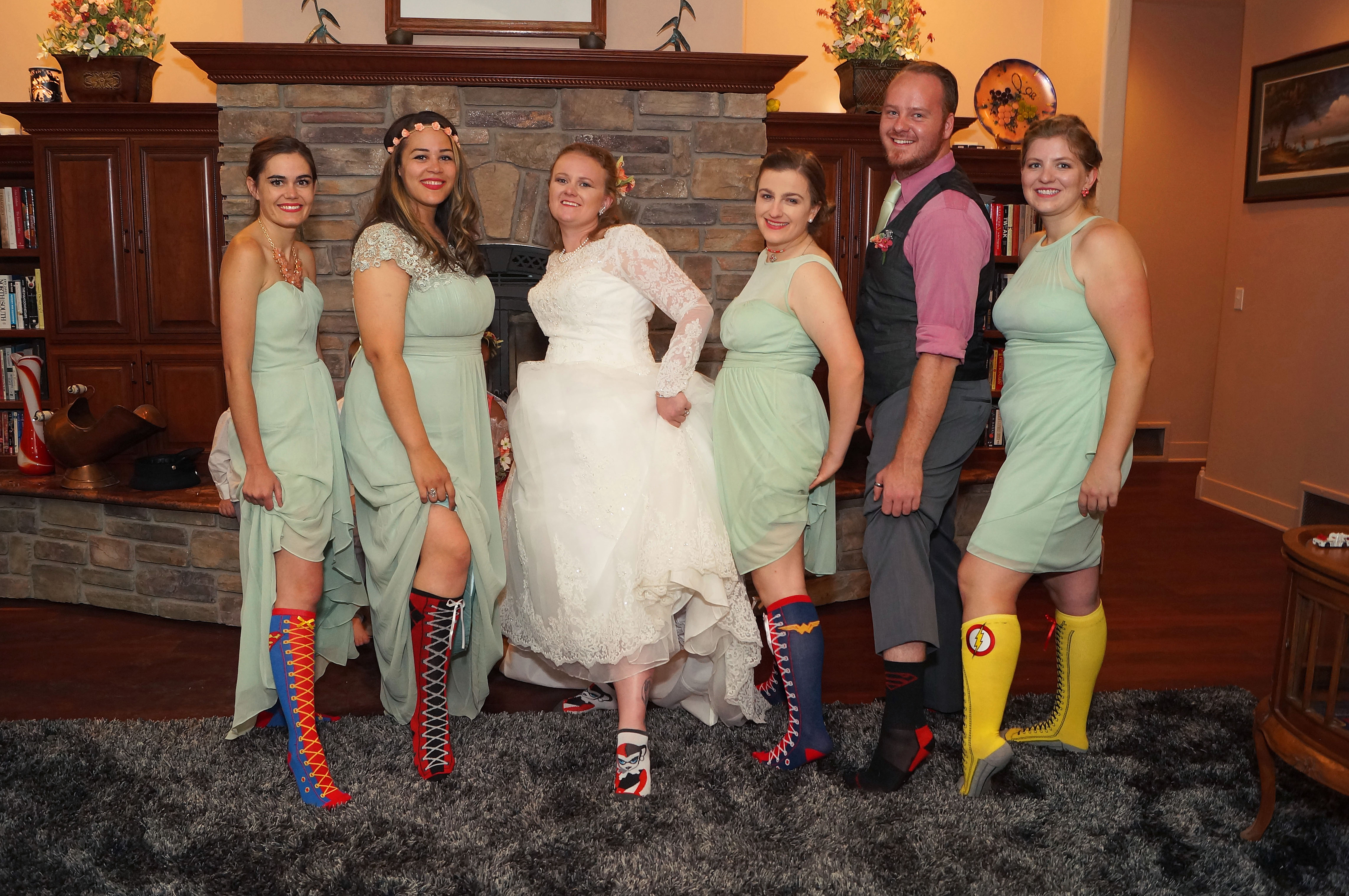 The Bridal Sqaud with DC socks