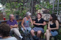 Family gathered for rehersal dinner