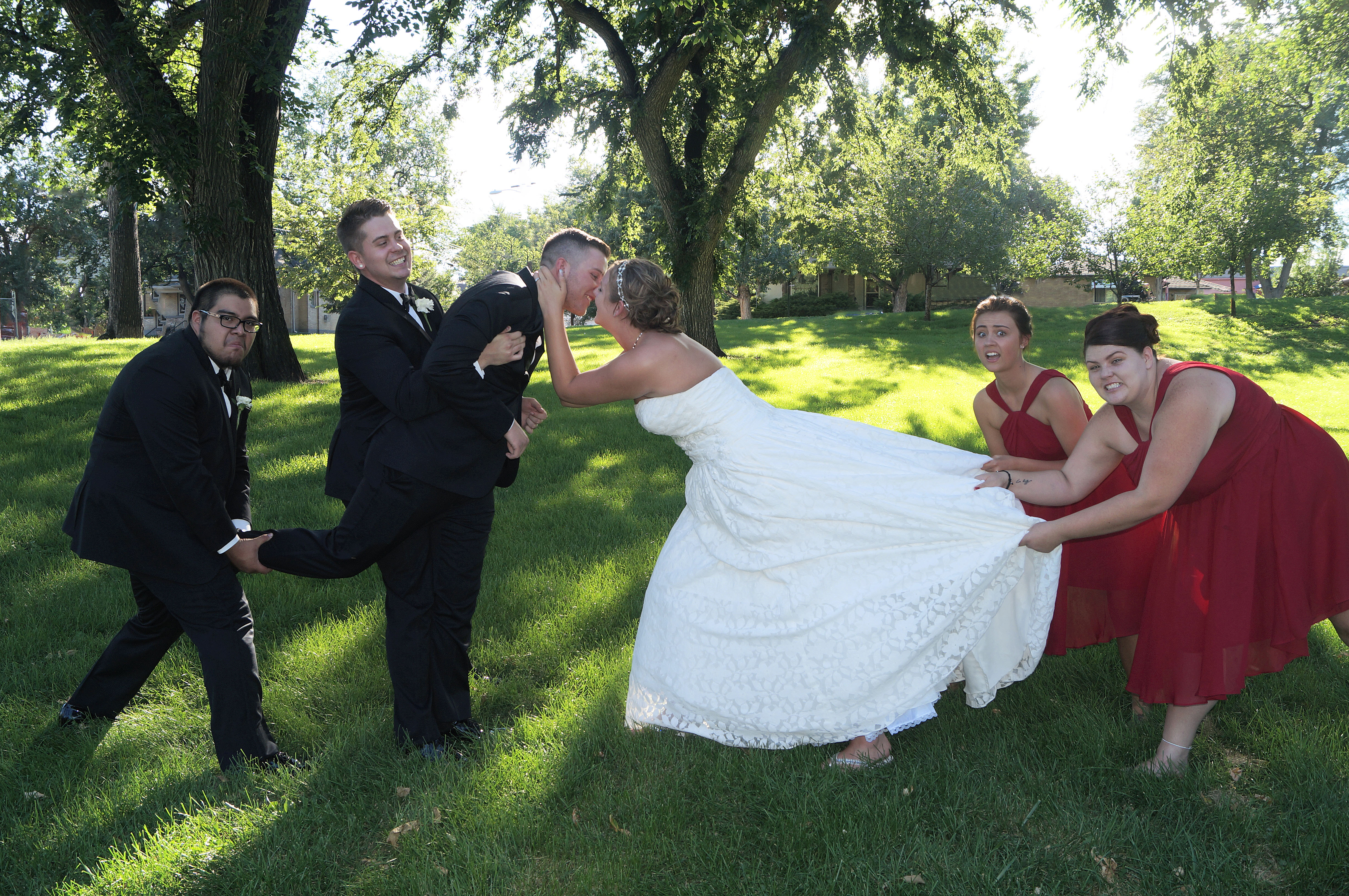 Bridal Party Goofiness