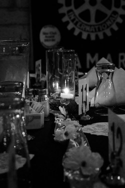 Table Setting At Rehearsal Dinner