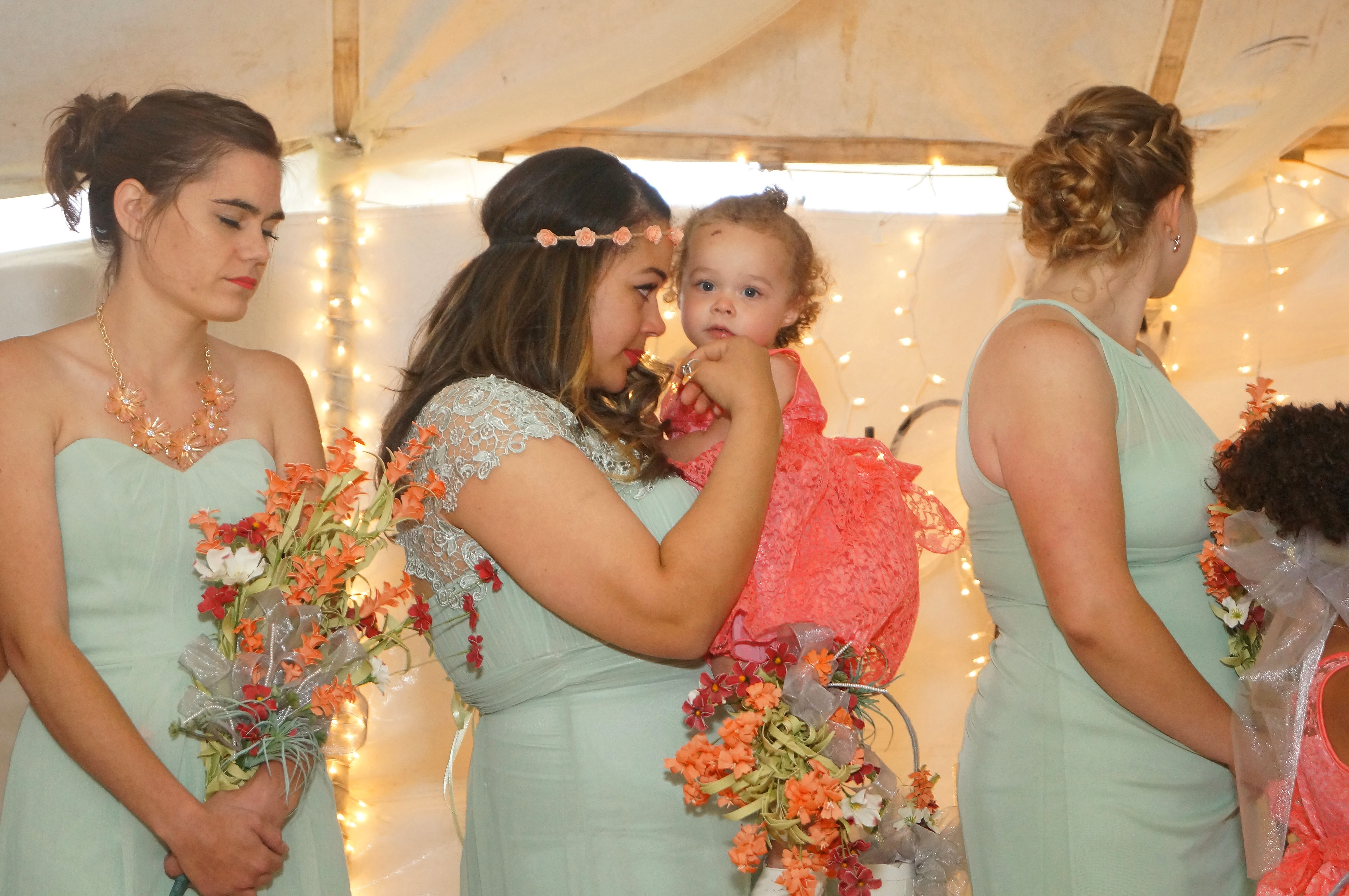 Flower girl and Bridemaid moment
