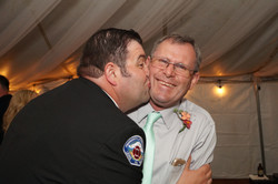 Groom Kissing his uncle