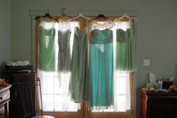Bridemaids' dresses