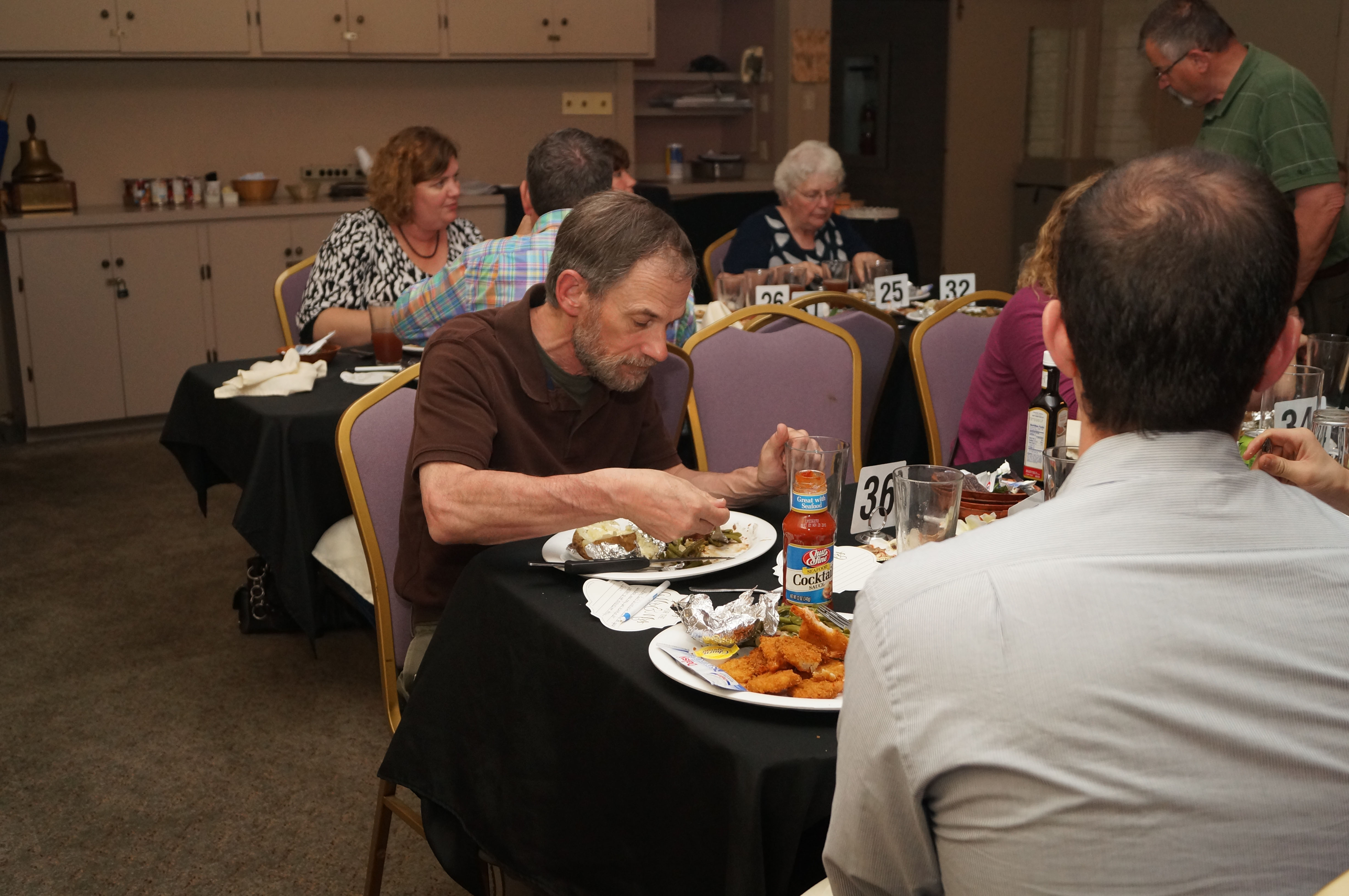 Guests Eating at Rehersal Dinner