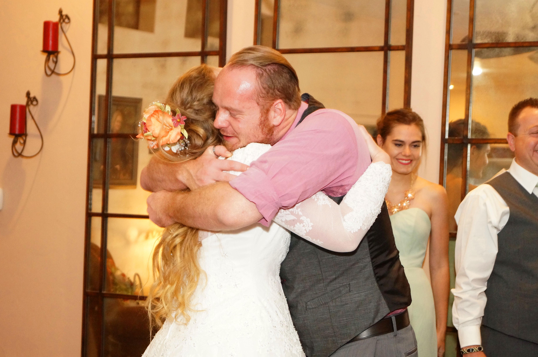 Bridesman congratulating Bride