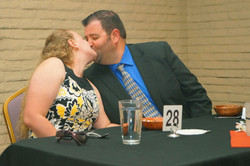 Bride and Groom Kissing at Rehearsal