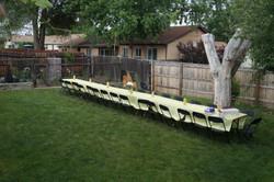 Setup of rehearsal dinner
