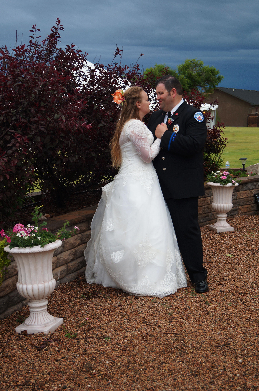 Look of love between groom and bride