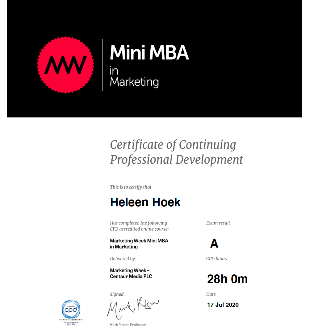 mMBA Marketing
