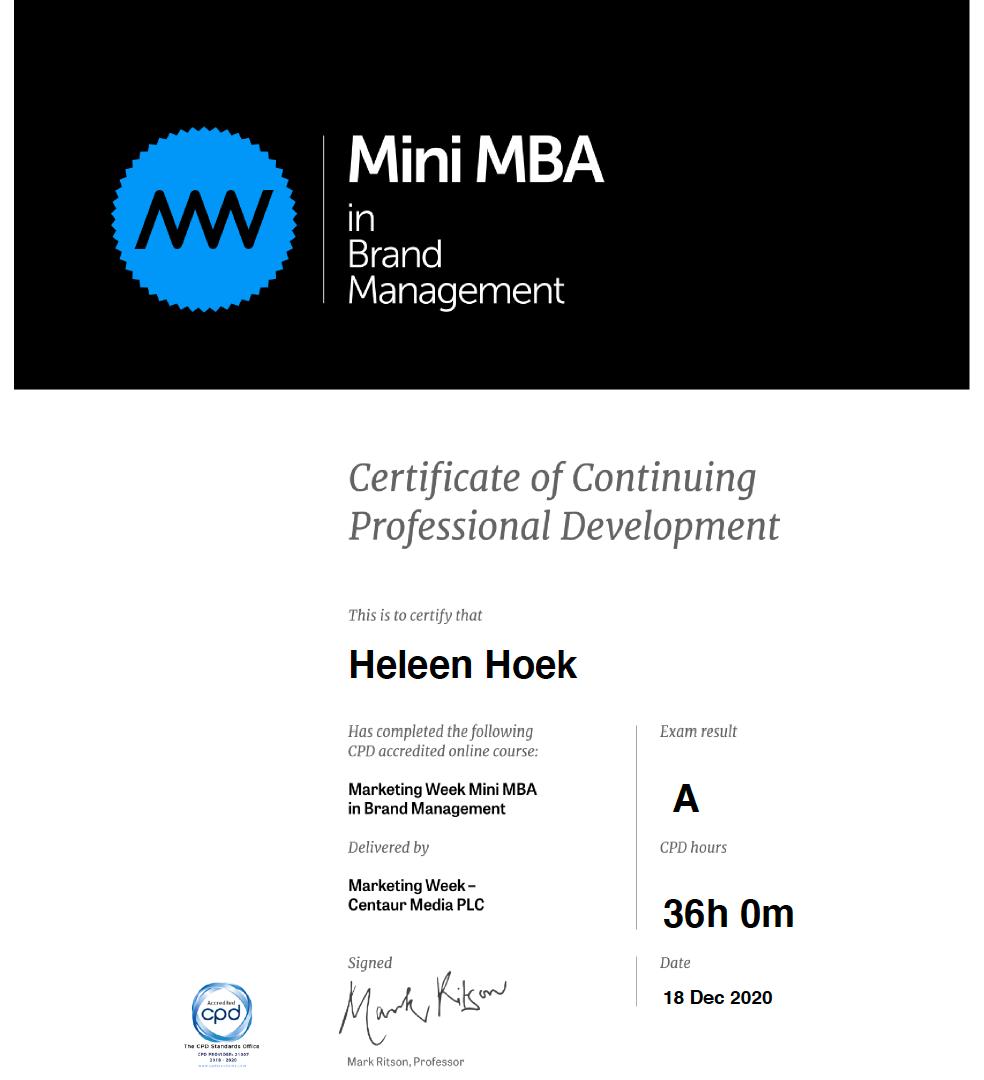 mMBA Brand Management