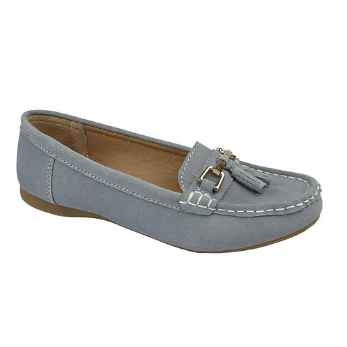Ladies Soft Suede Slip-on Loafers