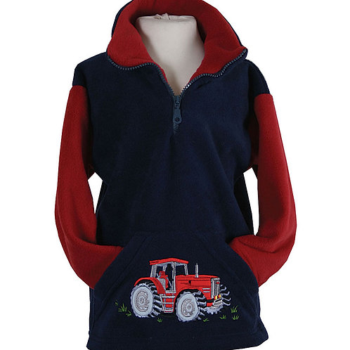 Kids Ramblers Tractor Fleece - Navy
