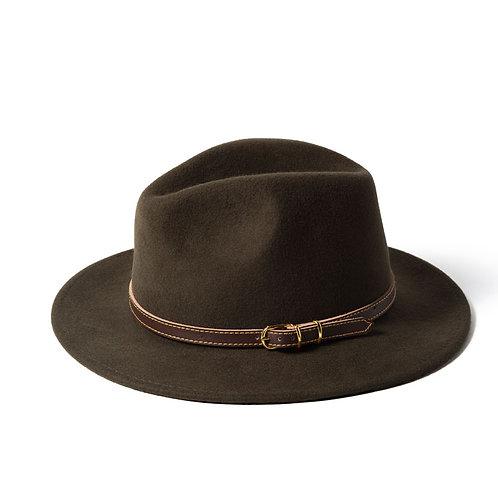 Failsworth Wool Felt Adventurer Ladies Hat - Olive Green