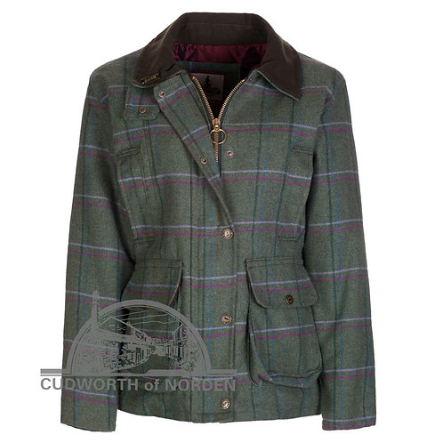 Ladies Bronte Richmond Tweed Purple/Pink Country Jacket