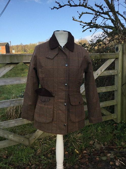 Ladies Deluxe Tweed Shooting coat, waterproof, breathable, comfy stylish