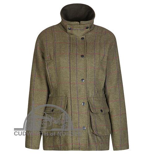 Ladies Purple Check Tweed Jacket