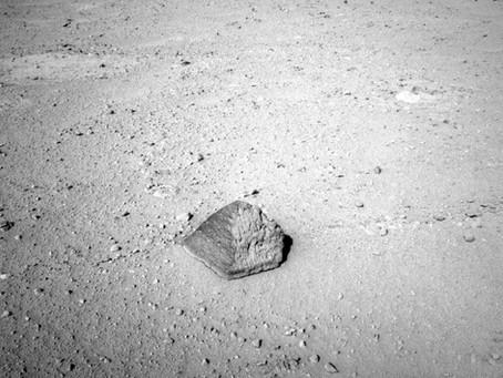 STRANGE ROCK FOUND ON MARS