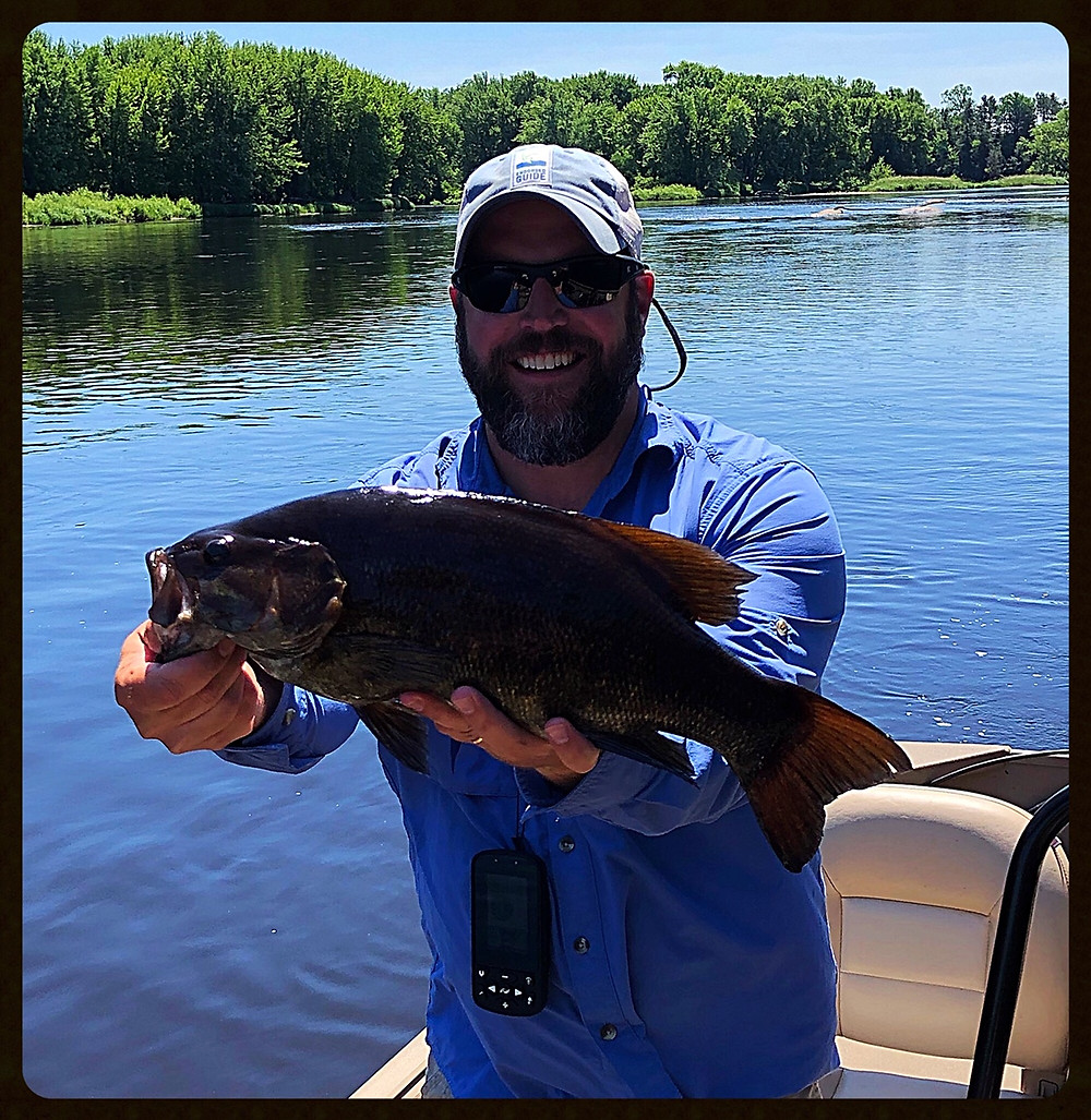 19.5 inch smallmouth on Wisconsin river on July 11th 2019