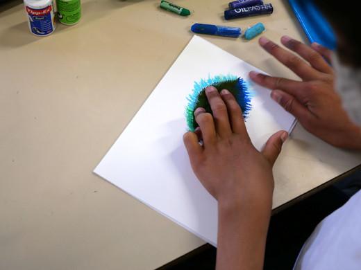 Technique de dessins, école Gaston Dupouy, classe de CM1-CM2, PPA 2021 ©candiD