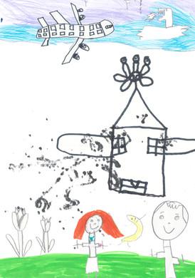 Passeport pour l'art 2020, la lanterne magique, contes à projeter, dessin d'élève de la classe de CE1 La Terrasse, crédits photographiques © candiD