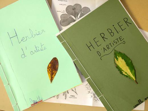 Herbier d'artiste, école Courrège, classe de CMPPA , 2021 ©candiD