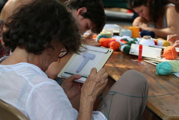 Atelier tissage, crédits photographiques © candiD