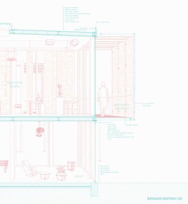 Steel REuse Centre + Workshops Detailed Section, 2020.