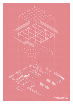 REcycling Facility Exploded Isometric, 2020