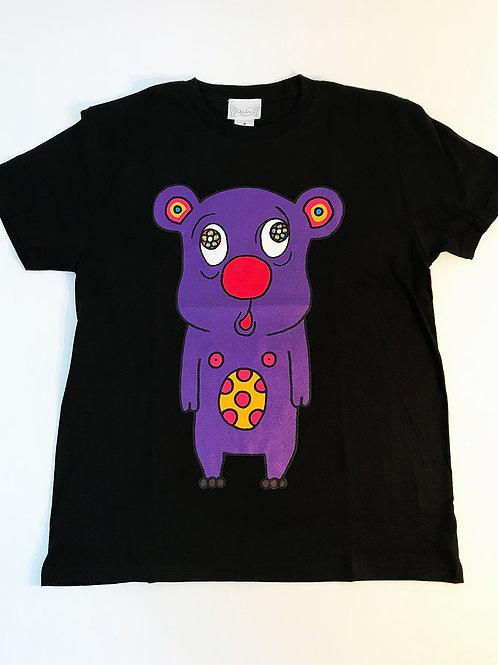 トボッチョTシャツブラック(パープル)