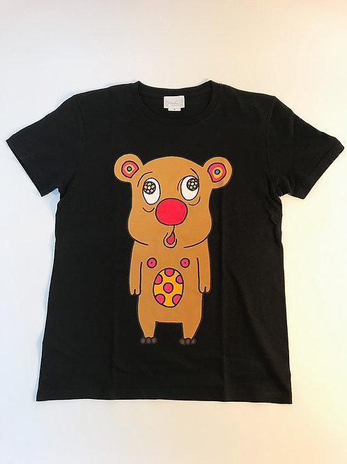 トボッチョTシャツブラック(キャメル)