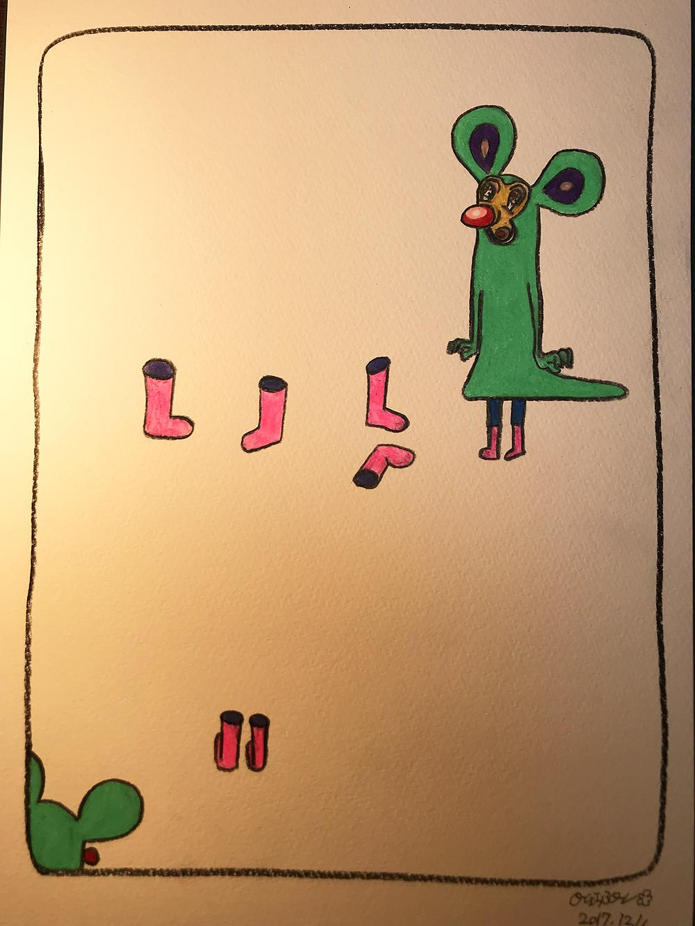 ピンクの長靴35