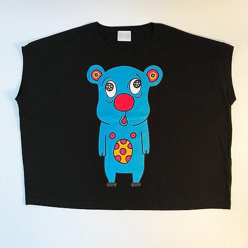 トボッチョTシャツブラック(ブルーWOMEN)