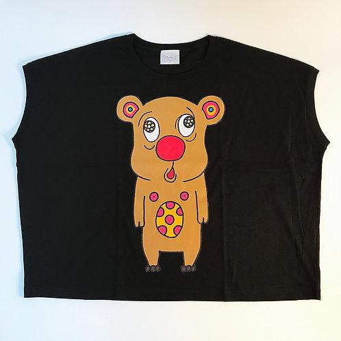 トボッチョTシャツブラック(キャメルWOMEN)