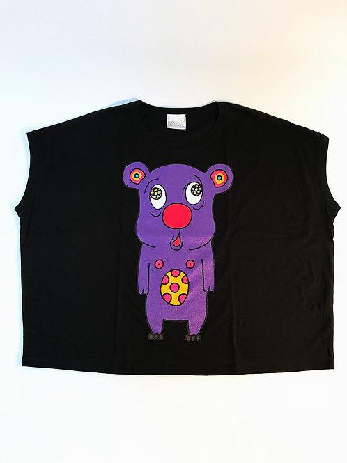 トボッチョTシャツブラック(パープルWOMEN)