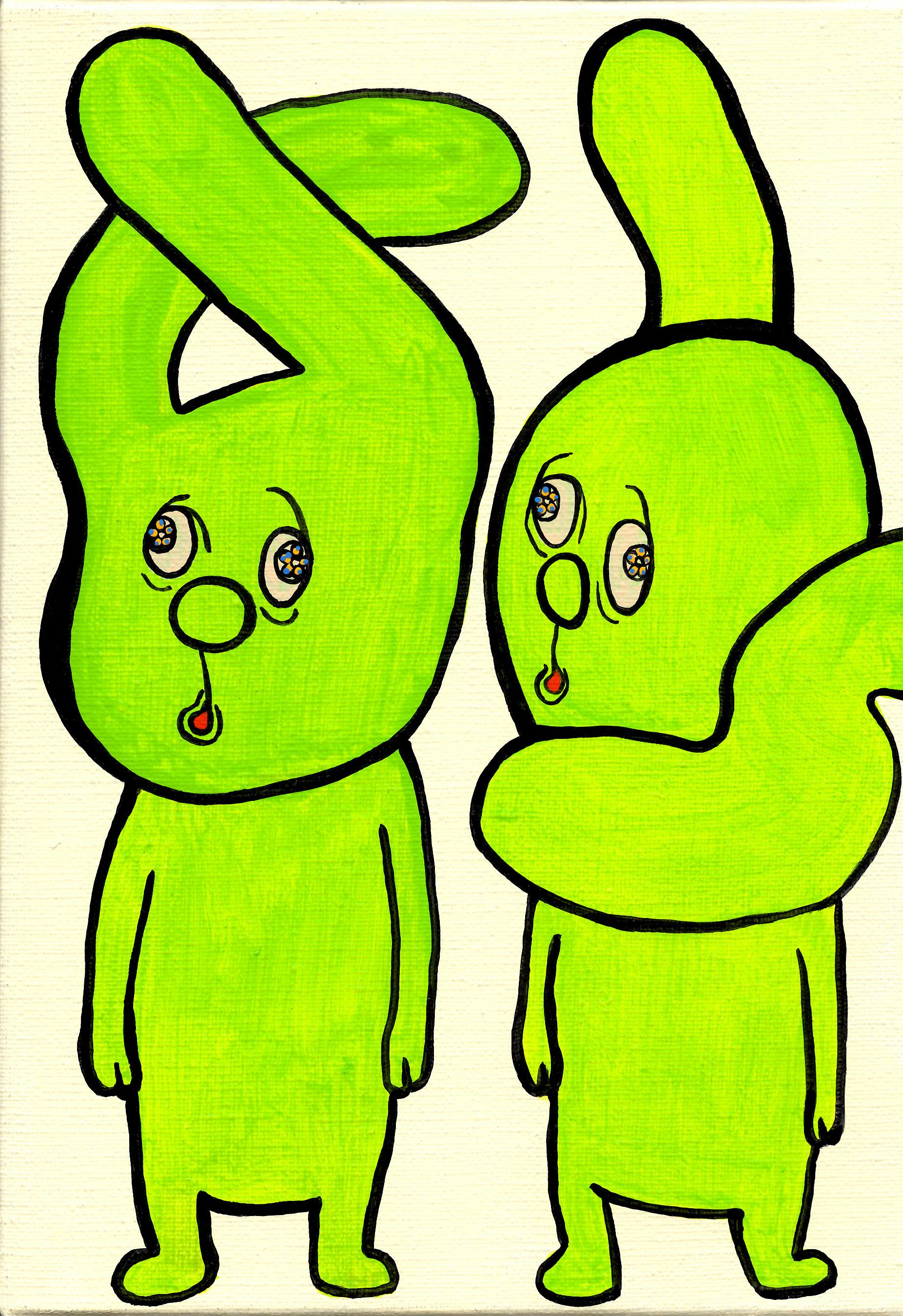 緑で二人 smサイズ