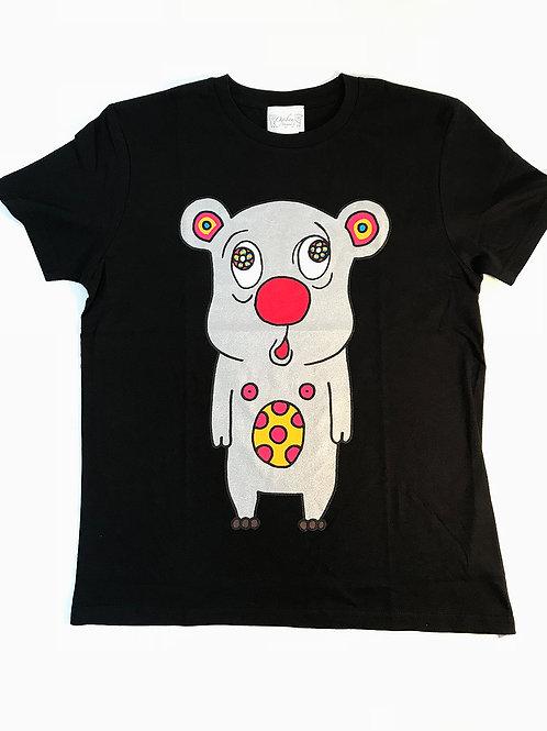 トボッチョTシャツブラック(シルバー)