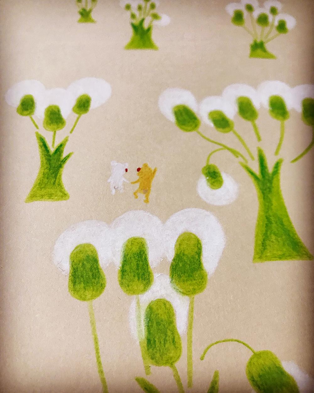 植物こい黄緑