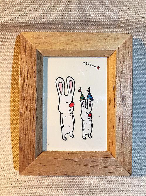 うさぎと子ウサギ
