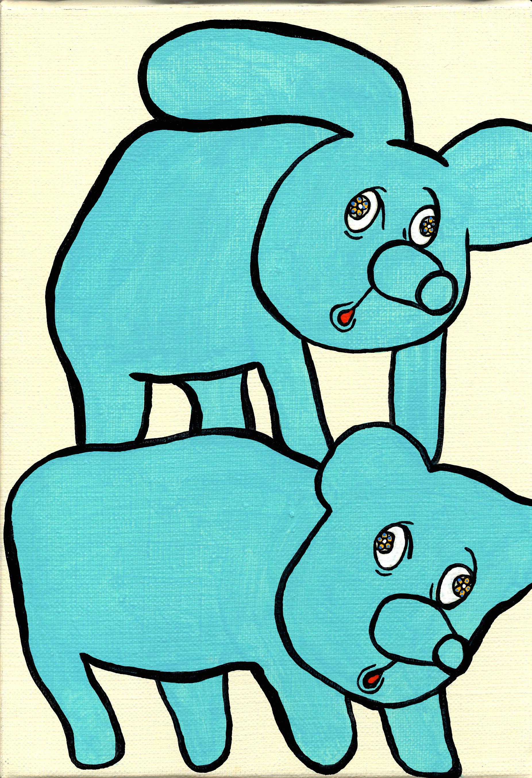 青い背中で二人 SMサイズ