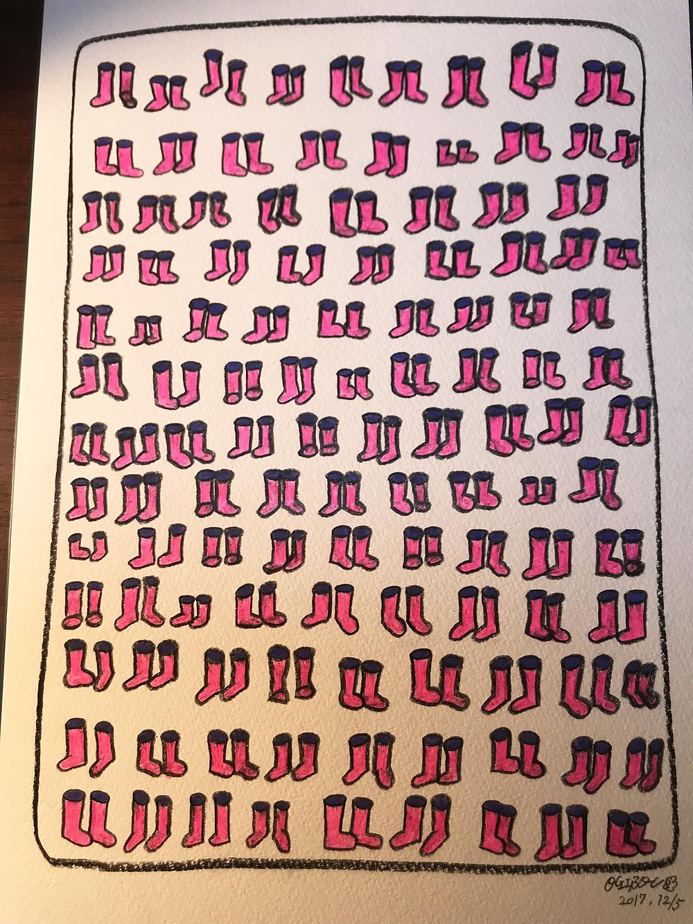 ピンクの長靴37