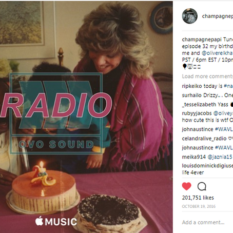 DRAKE IS GIVING US NEW MUSIC ON OVOSOUND RADIO FOR HIS BIRTHDAY CELEBRATION